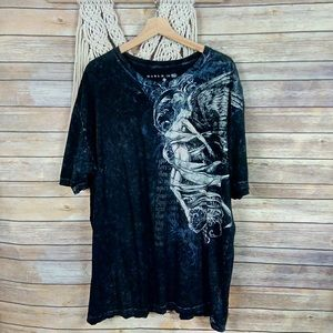 Affliction | Black Angel Wings Graphic Tee